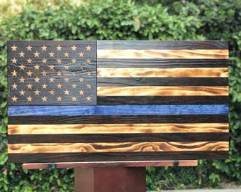 Support Blue American Flag