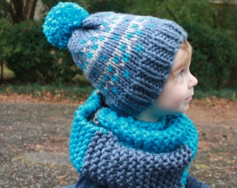 PDF Knitting Pattern, Pattern for Fair Isle Knit Hat, Fair Isle Hats for Everyone, Baby, Toddler, Child, Adults Knit Hats, Fair Isle Knit