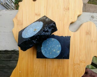 Midnight Moonlight Activated Charcoal Soap Bar Handmade Cold Process Vegan