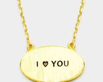 I love you the inspired necklace