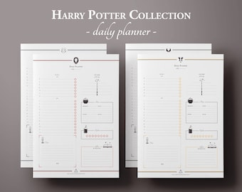 Harry Potter Daily Planner Printable w/ Meal Planner, To Do List, Printable Planner Pages, Planner Inserts, Undated Planner, Bullet Journal