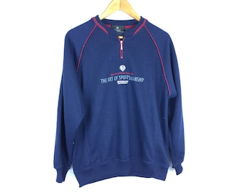 DUNLOP MOTORSPORT The Art of Sportmanship Long Sleeve Large Size Sweatshirt Neck Zipper