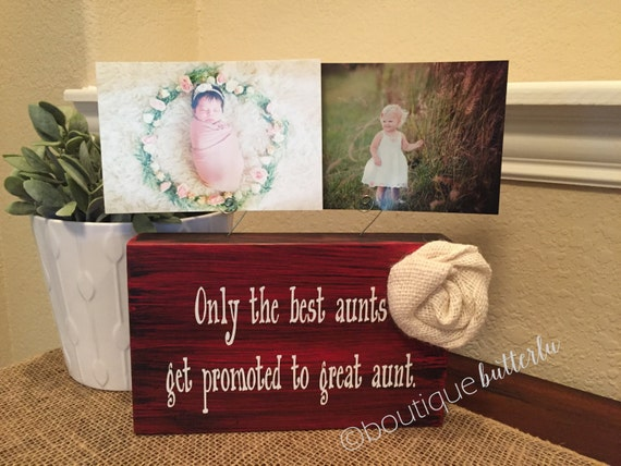 Gift For Great Aunt Sister Aunt Personalized Picture Frame Board ...