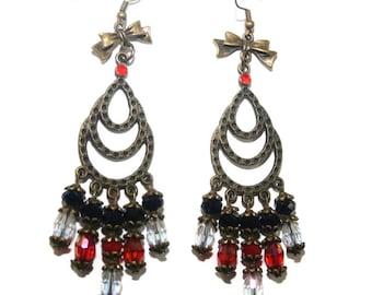 Chandelier earrings cascade cristalPORT free FRANCE