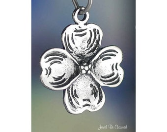 Sterling Silver Dogwood Flower Charm Spring Flowering Tree Solid .925