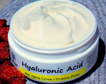 Anti Aging & Acne - Hyaluronic Face moisturizer - Wrinkle Cream - Problem Prone complexion(2oz) - Natural/Handmade SkinCare