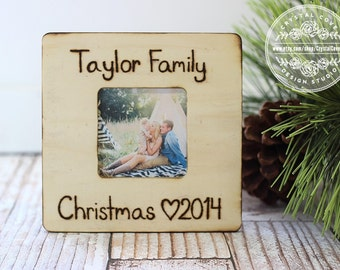 Family Christmas Personalized Picture Frame Rustic Country Christmas Family GIFT