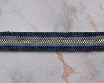 Blue and Gold Delica Bracelets