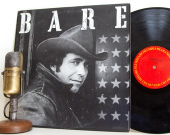 "Bobby Bare (with guest Waylon Jennings) Vinyl Record Album LP 1970s Country Western Music (""Bare"" 1978 Cbs w/""Yard Full Of Rusty Cars"")"