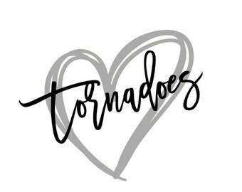 Tornadoes Heart SVG