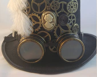 Gears of Cameo: Steampunk Top Hat with Goggles