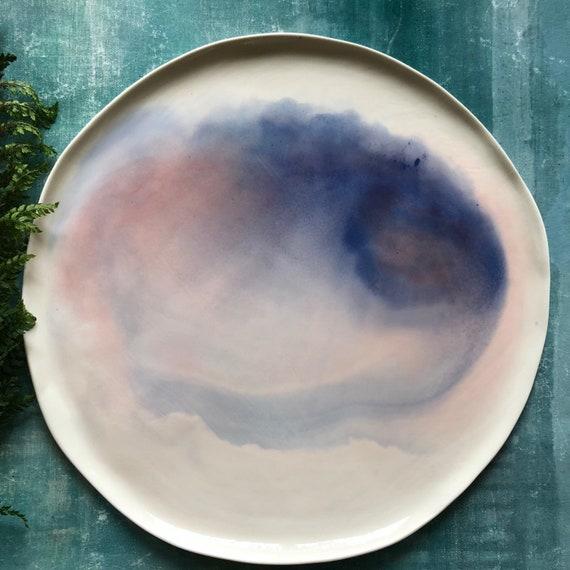 XL Watercolor series  porcelain plate