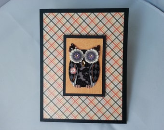 Happy Halloween Owl Card