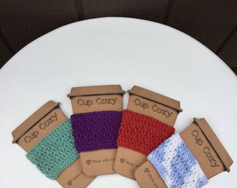 Coffee Cozy, Reusable Coffee Sleeve, Coffee Cup Cozy, Coffee Cup Cosy, Coffee Cup Cozie, Coffee Sleeve, Tea Cozy, Reusable Cotton Cup Sleeve