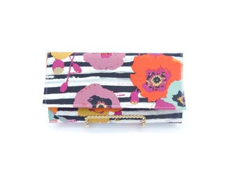 Women's floral clutch wallet, women's wallet, women's credit card holder, vegan wallet