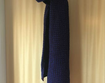 Hand Knitted Pure Wool Tweed Scarf