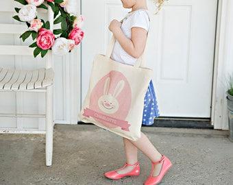 Easter bag etsy easter canvas bag cotton bag linen bag cheap bag gift easter egg tote bag easter bunny jute bag color easter gift negle Choice Image