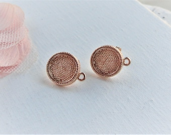 Smart Gold ear studs gold round stud earring
