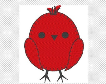 Little Birdie Embroidery Design Instant Download solid design and applique design