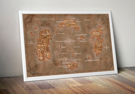 Wow map world of warcraft map lands of kalimdor eastern gumiabroncs Choice Image