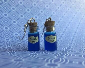 Drink Me - Alice in Wonderland Dangle Earrings
