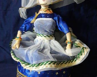 Eco-friendly, handmade Indian dance artist doll (Manipuri style)