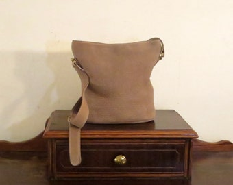 Etsy BDay Sale Coach Sonoma Small Bucket Zip In Sand Nubuc Leather Style No. 4933- Made In Italy -VGC