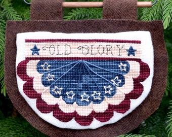 Old Glory Cross Stitch Pattern
