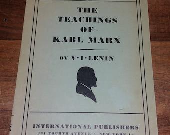 The Teachings Of Karl Marx Volume 1 by VI Lenin Vintage Paperback Book