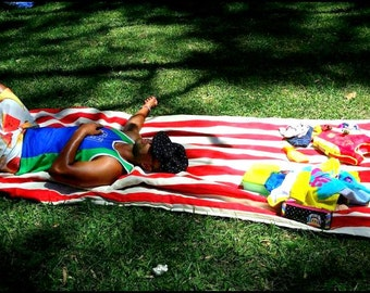 Picnic Blanket Outdoor Rug // with EXTRA PADDING // you pick fabric colour and print // Waterproof Front and Back