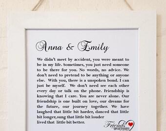 Personalised  Framed Friendship Poem