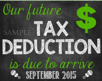 Tax Deduction Pregnancy Announcement Tax Season Pregnancy Reveal