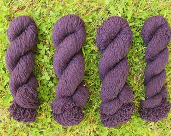 Eggplant Lambswool / Cotton Blend Recycled Yarn - 885 Yards (3-ply)