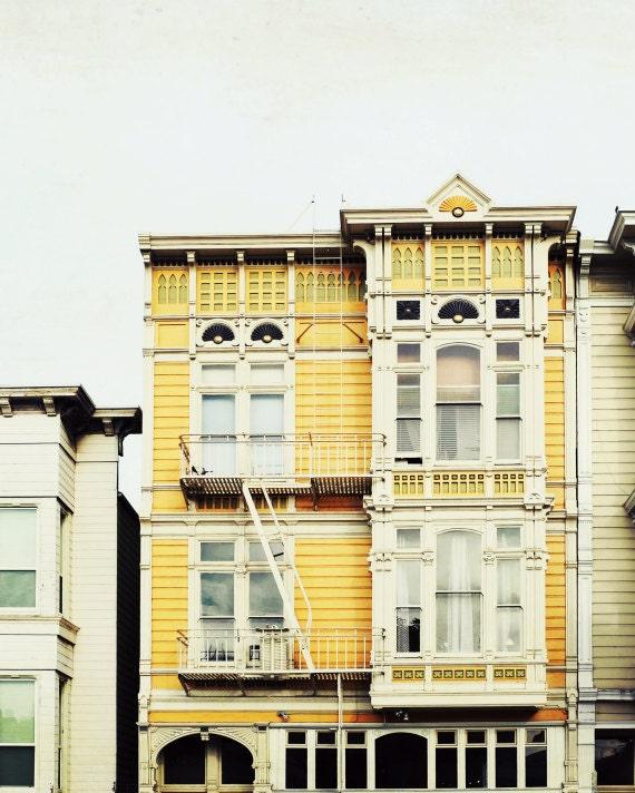 San Francisco print fine art photography yellow wall art
