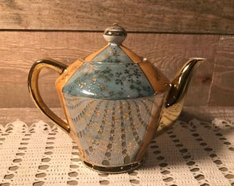 Irodescent Fired Japan Teapot Vintage
