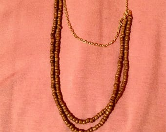 Multi strand beaded agate necklace