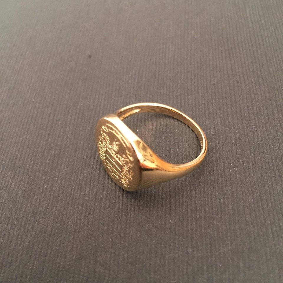 Preferenza Stemma della famiglia Crest anello Crest incidere anello LS37