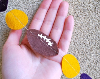 LSU Football Felt Garland - 3 ft Purple and Gold for Tailgating Party
