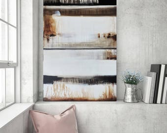 Abstract Painting Etsy, Abstract Canvas Art, Original Painting, Minimalist Rustic Natural Distressed Art, Paintings on Canvas, heatherday