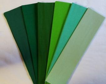 Green Crepe Paper, Dennison Crepe Paper, Crepe Paper, Flower Making Paper, Wedding Paper Flowers, Mexican Paper, Flowers, DIY Paper Flowers