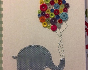 Evie Elephant * Canvas *