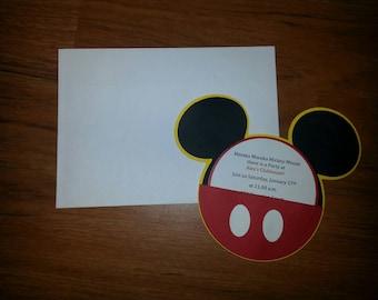 30 Mickey Mouse Birthday Invitation