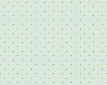 Wonderland 2 Suits, Spades, Clubs, Hearts and Diamonds cotton fabric in White, Mint and Pink ,with Gold Metallic Sparkle