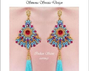 "TUTORIAL ""Indian Scent"" earrings / orecchini"