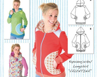 "Miou Miou-Cut pattern hooded jacket ""Valentina"""