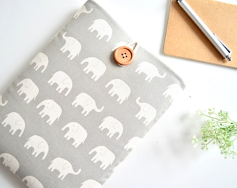 Elephant Kindle Case, Paperwhite Cover, Custom Fit eReader Sleeve, Cute Kindle Sleeve, Amazon Fire HD 6, 7, 8.9 inch Custom Size