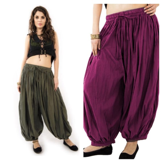 HAREM pants, yoga trousers, harem trousers, drop crotch trousers, Alibaba pants, Aladdin pants, sarouel, psytrance goa pants, Catraf
