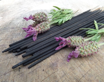 French Lavender Incense Sticks  | Absolute Grade | 100% Natural Incense | Traditional Indian Incense | Hand Rolled With Essential Oils