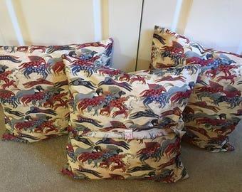 Laurel Burch Dancing Horses Pillow