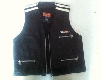 Vintage classic Leather motorcycle Segura 70 vest